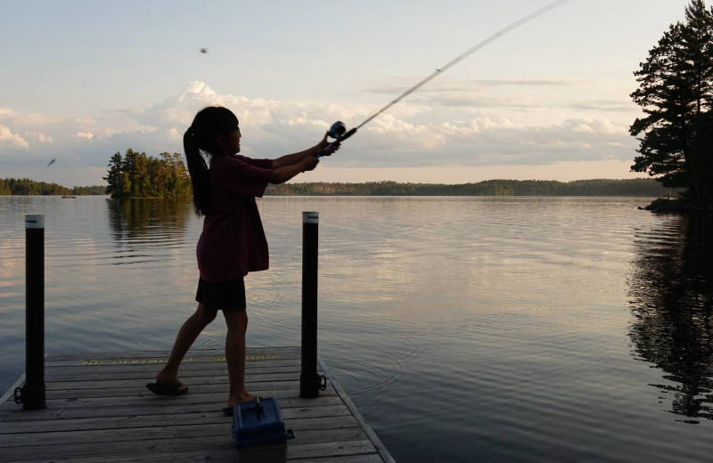 Fishing at YMCA Camp Du Nord.