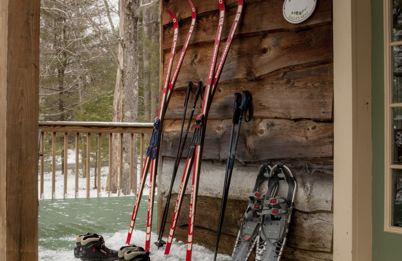 Ski and snow shoe at Inn At Lake Joseph.