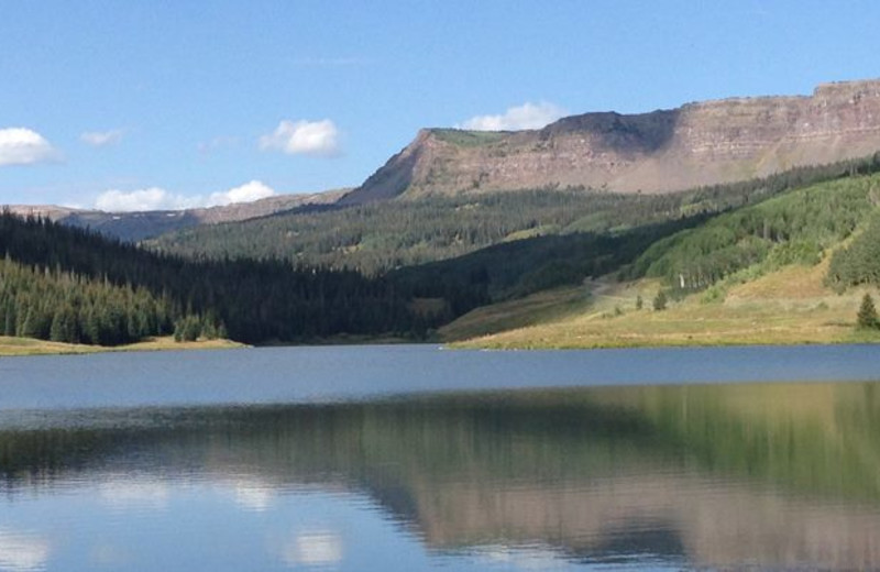 Lake near Steamboat Lodging Properties.