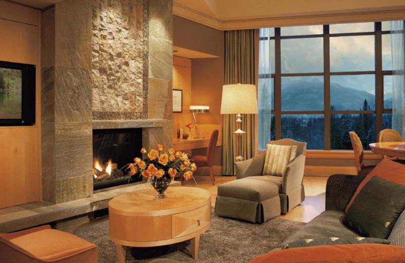 Guest living room at Four Seasons Resort Whistler.