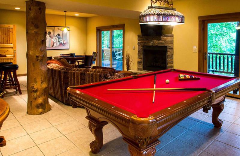 Rental living room at Smoky Mountain Getaways.