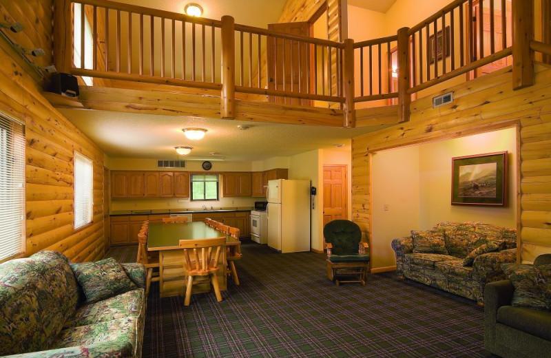 Condo interior at McQuoid's Inn & Event Center.