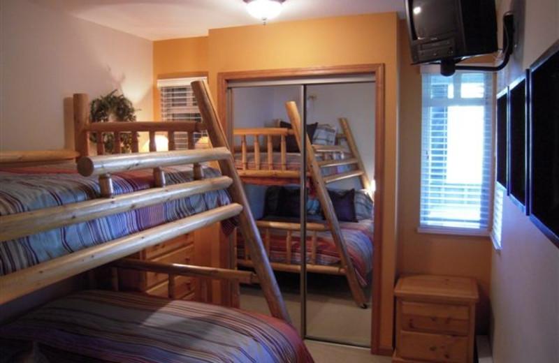 Rental bunk beds at Stoney Creek Resort Properties.
