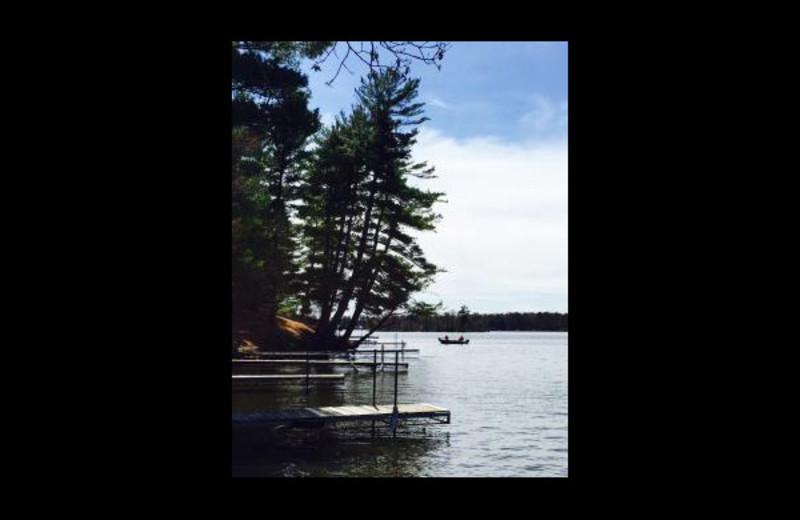 Lake view at Summer Haven Resort.