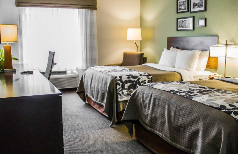 Guest room at Sleep Inn