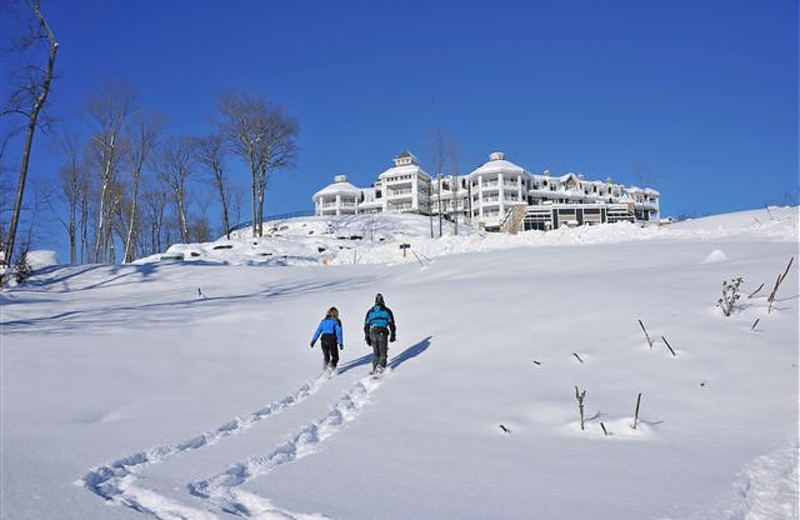 Snowshoeing at JW Marriott The Rosseau Muskoka Resort & Spa.