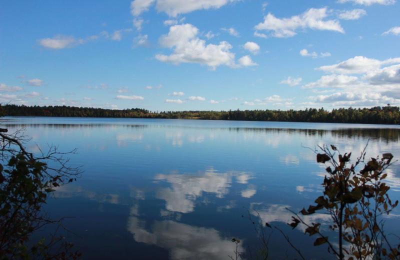 Lake view at Finn'n Feather Resort.