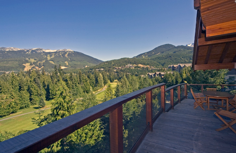 Deck view at ResortQuest Whistler.