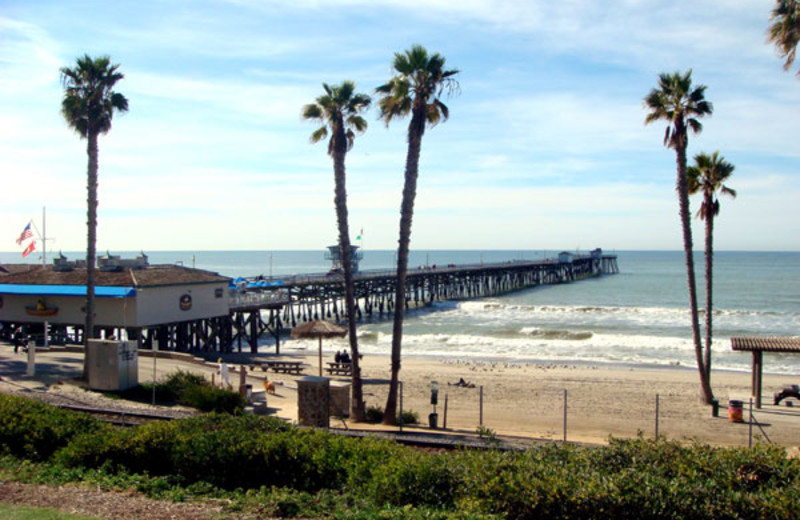 The beach near San Clemente's Little Inn By The Beach.