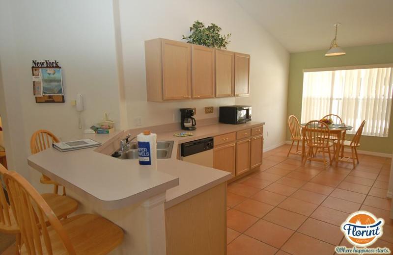 Rental kitchen at Florint Vacations.