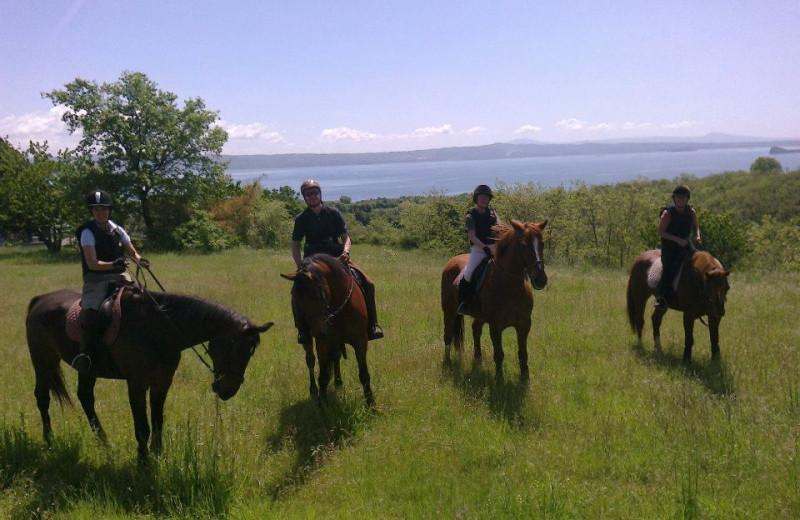 Horseback riding at Il Castello di S. Cristina.