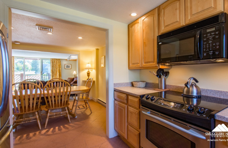 Guest kitchen at Smugglers' Notch Resort.