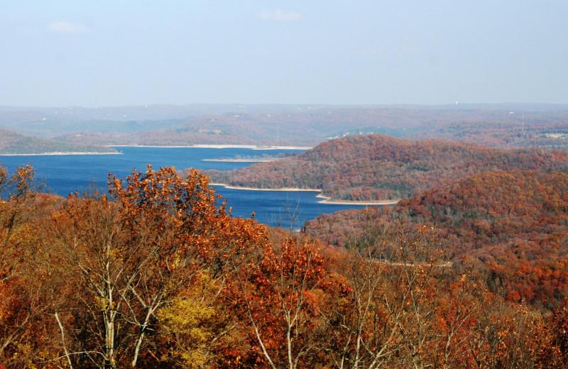 Lake view at Whitney Mountain Lodge.