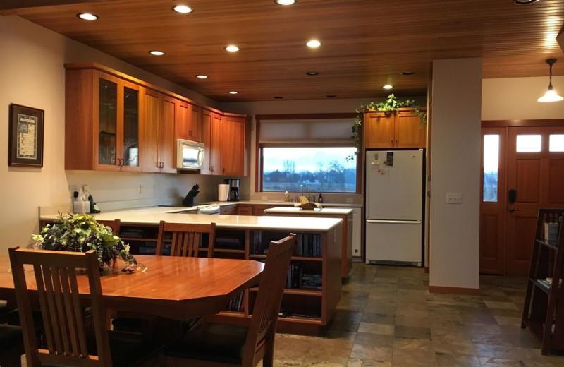 Kitchen at Dungeness Beach Retreat.