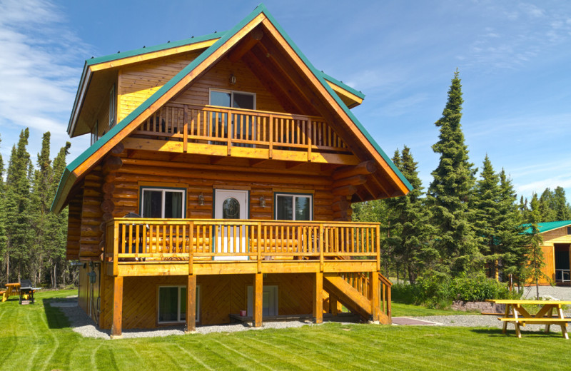 exterior view of Salmon Catcher Lodge.