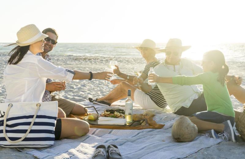 Family picnic at Palm Island Resort.