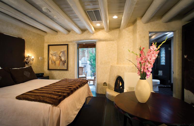 Guest room at El Monte Sagrado.