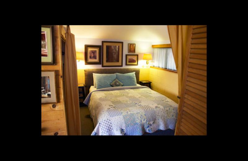 Cottage bedroom at Cort Cottage.