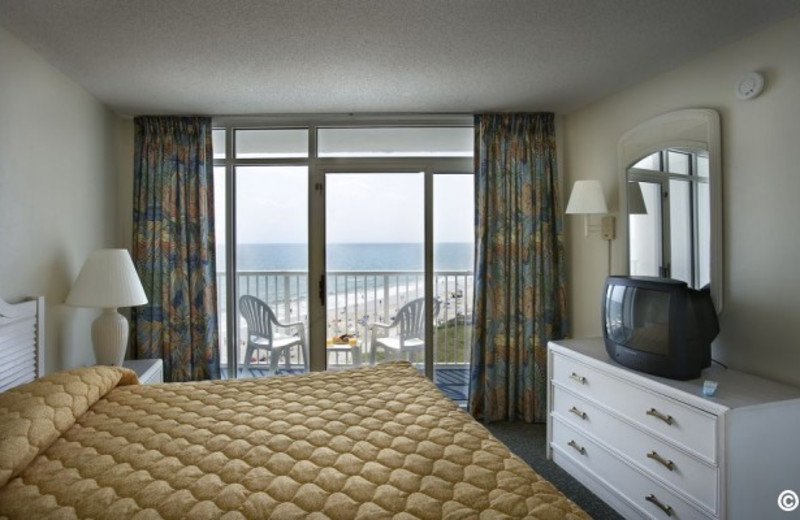 Guest bedroom at Sea Watch Resort.
