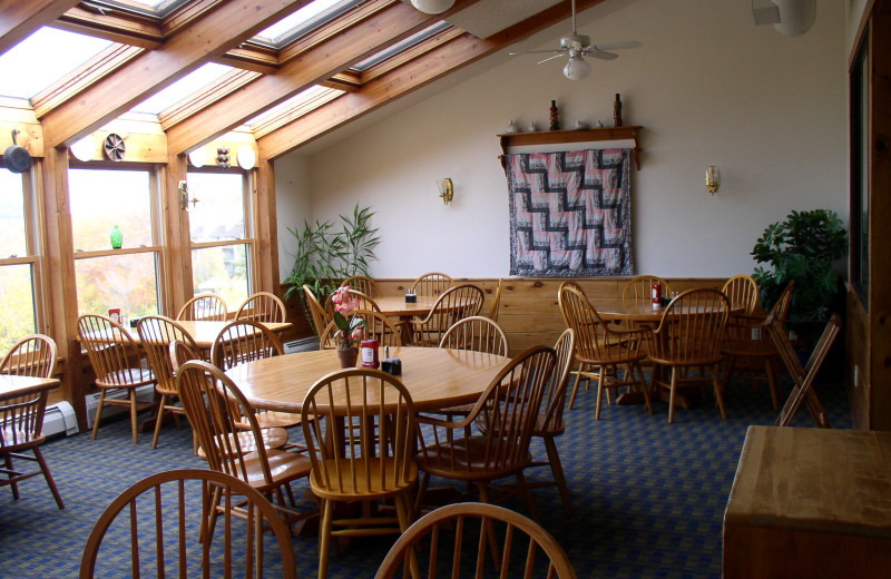 Dining area at Cascades Lodge.