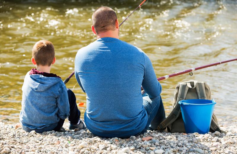 Fishing near Stone Canyon Inn.