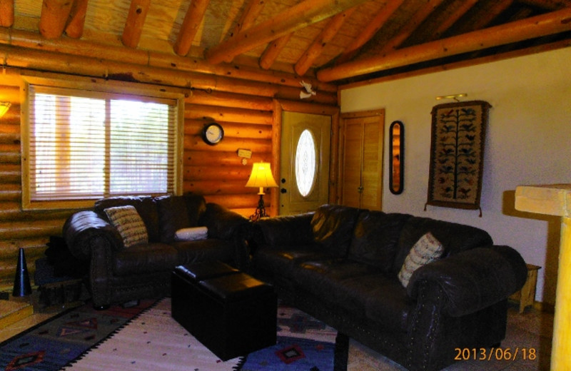 Rental living room at Resort Properties of Angel Fire.
