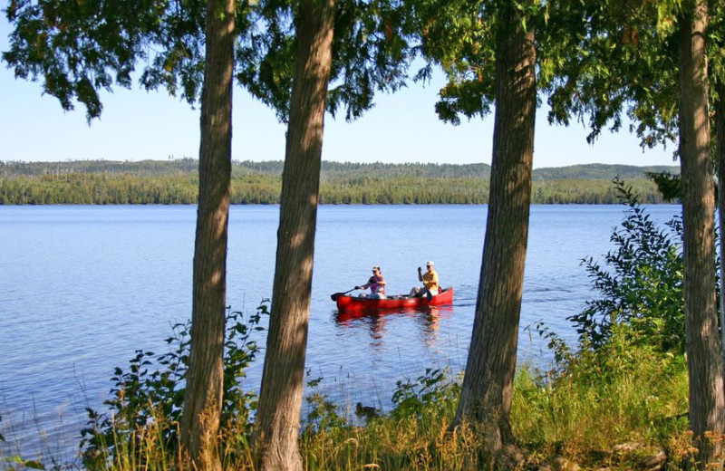 Canoeing at Gunflint Lodge.