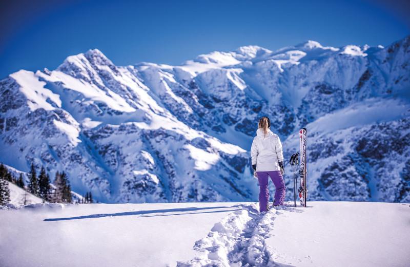 Skiing at Klammer's Kärnten.