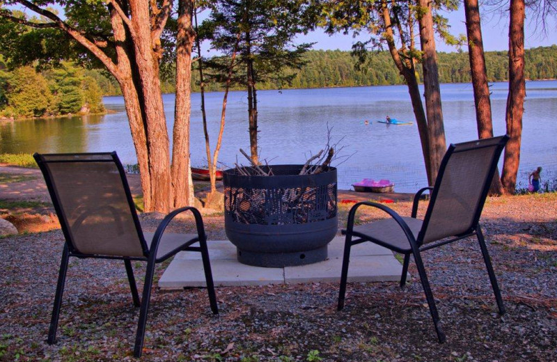 Patio view at Great Blue Resorts- Bonnie Lake Resort.