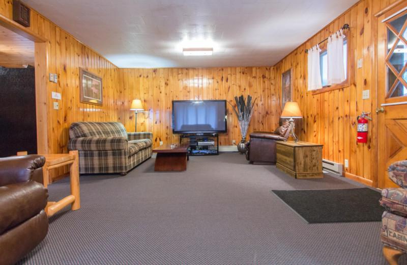 Living room at Krueger's Harmony Beach Resort.