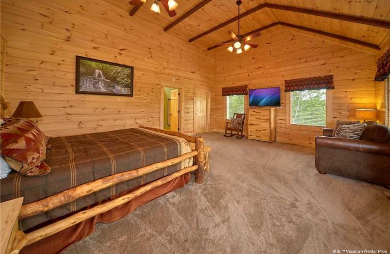 Rental bedroom at Vacation Rental Pros - Gatlinburg.