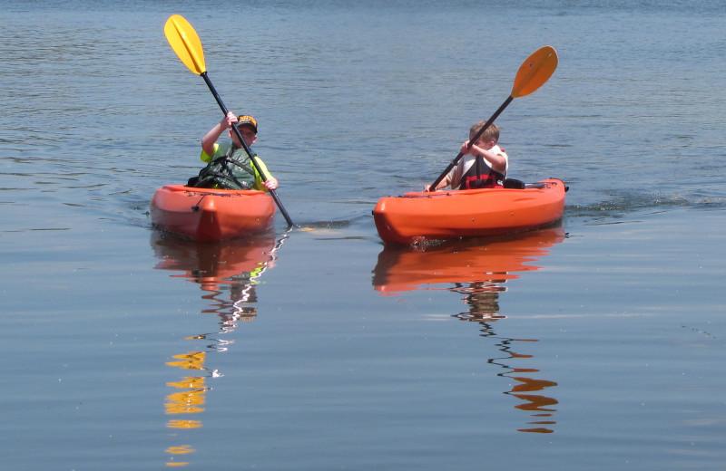 Kayaking at Mill Lake Resort.