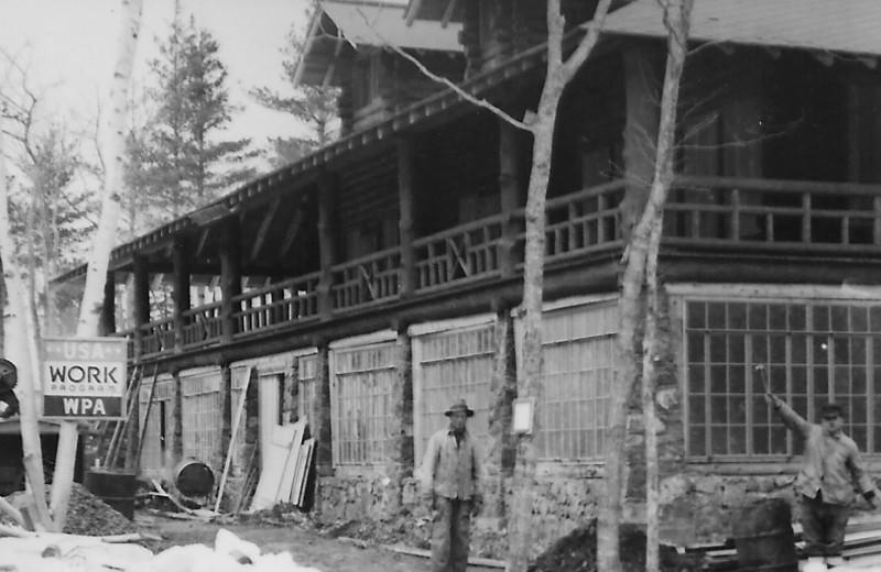 Historic photo of Keweenaw Mountain Lodge.
