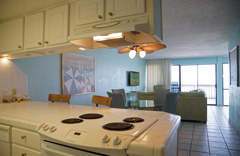 Kitchens at Island House Beach Front Condominiums