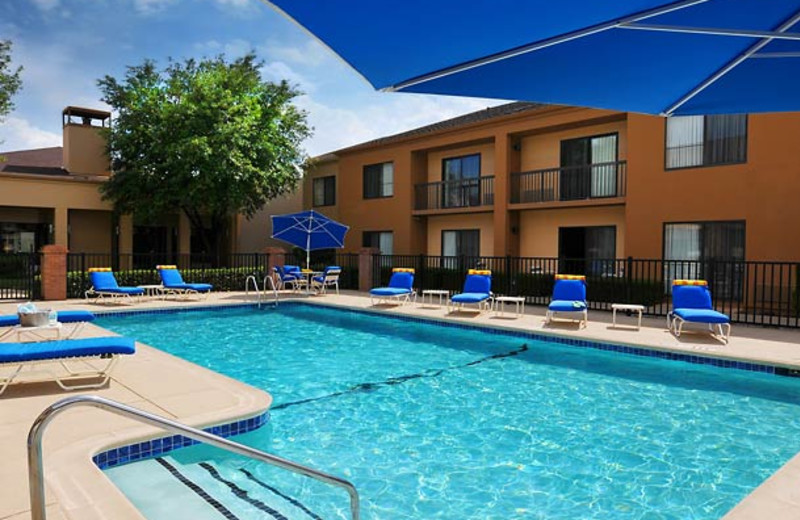 Outdoor pool at Courtyard by Marriott Fort Worth University Drive.