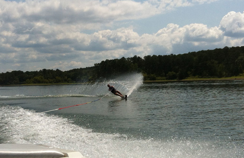 Jet skiing at Remember When Cabins.