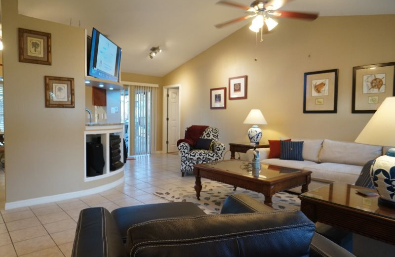 Rental living room at MHB Property Management.
