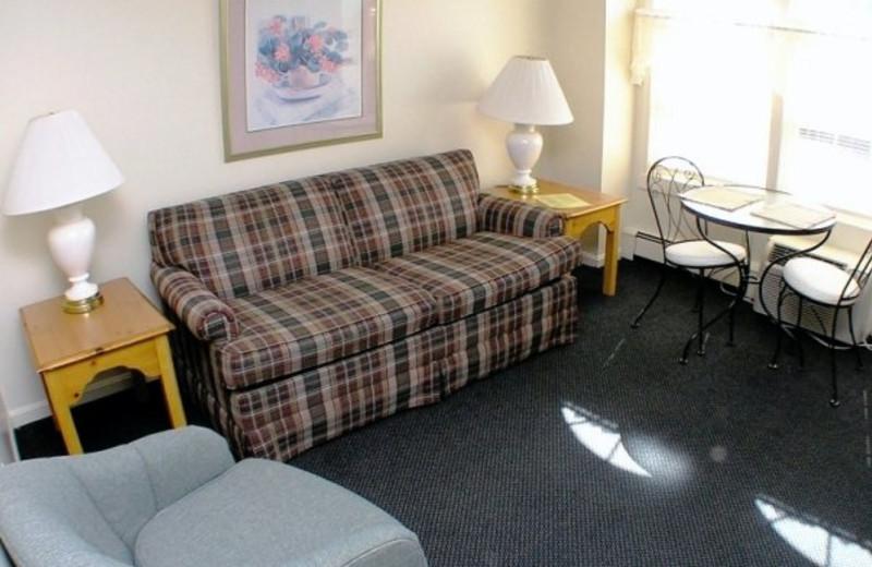 Guest room at Seacastles Resort Inn & Suites.