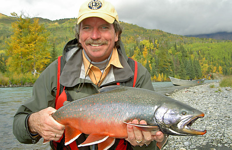 Salmon fishing at Great Alaska Adventure Lodge.