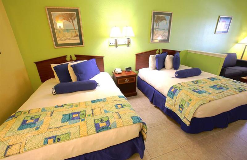 Guest room at Plantation Suites & Conference Center.