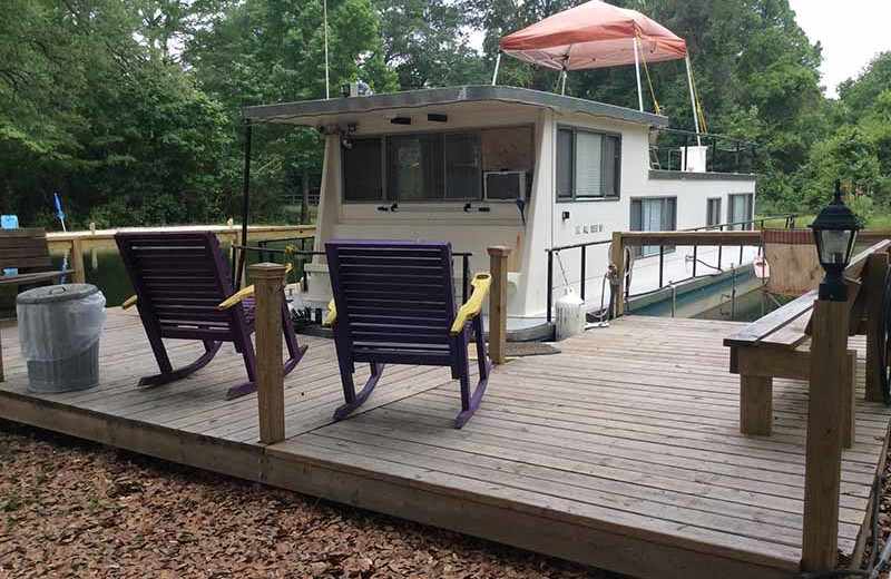 Boat house at Berry Creek Cabins.