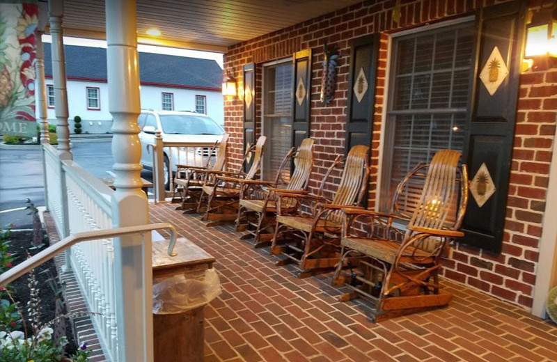 Porch at Country Living Inn.