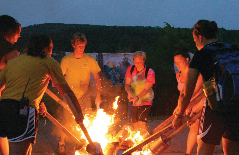 Camp fires at YMCA Trout Lodge & Camp Lakewood.