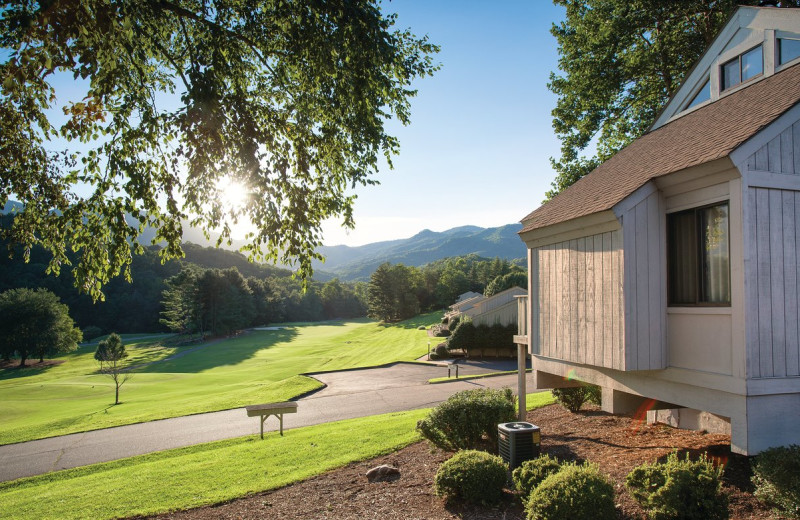 Exterior view of Wyndham Vacation Resort at Fairfield Mountains.