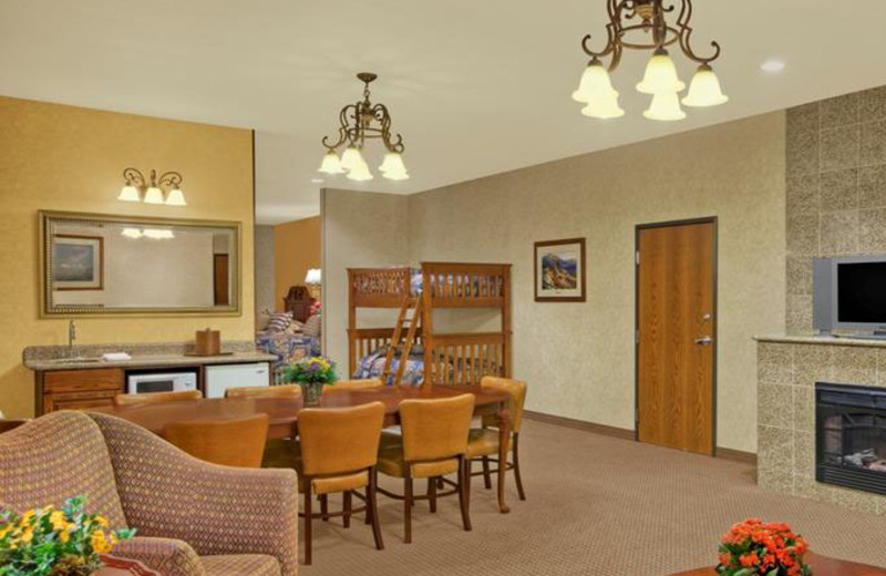 Bunk Bed Suite at Rushmore Express Inn & Family Suites.