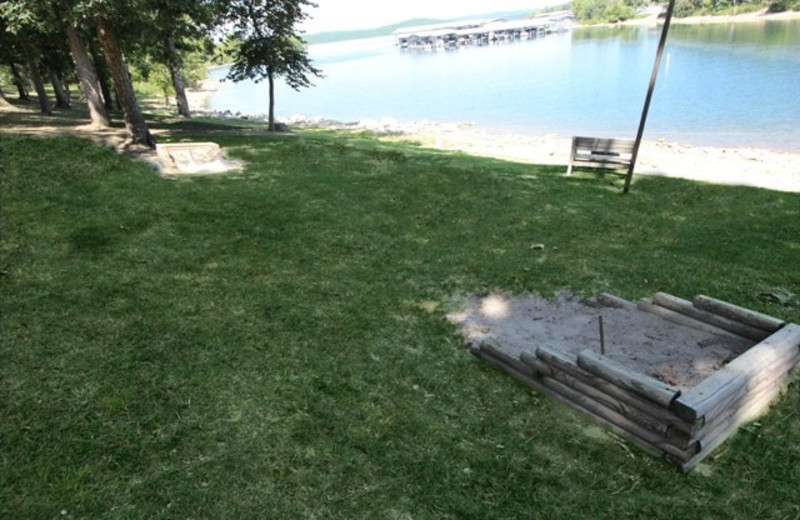 Horseshoes at Vickery Resort On Table Rock Lake.