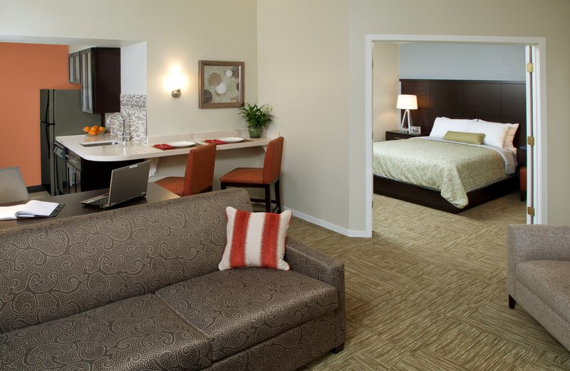 Guest room at Staybridge Suites Sunnyvale.