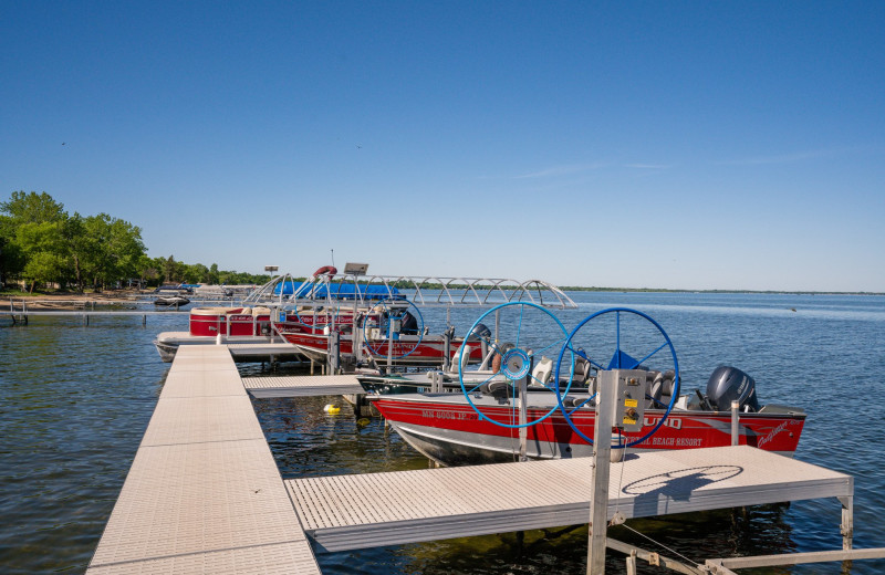 Docks at Otter Tail Beach Resort.
