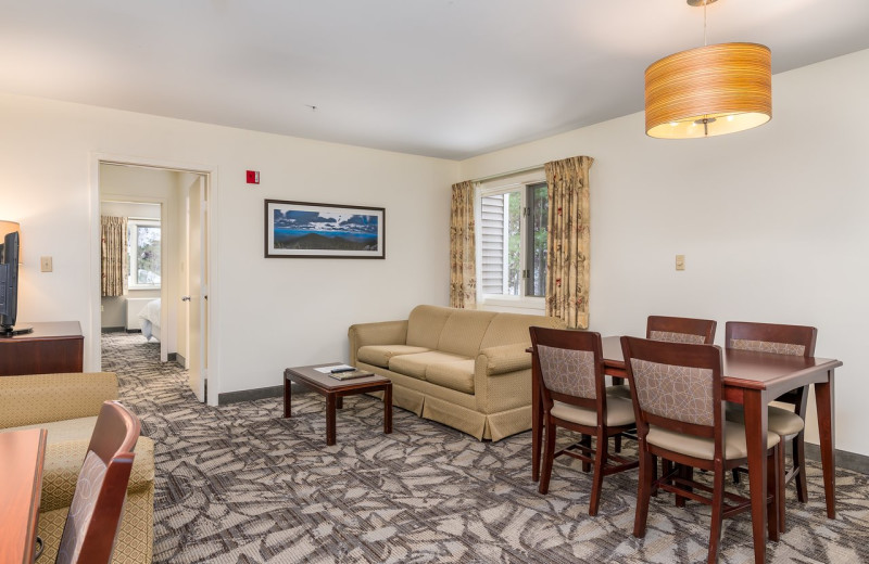 Guest room at Attitash Grand Summit Hotel.