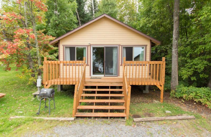 Cabin exterior at Krueger's Harmony Beach Resort.